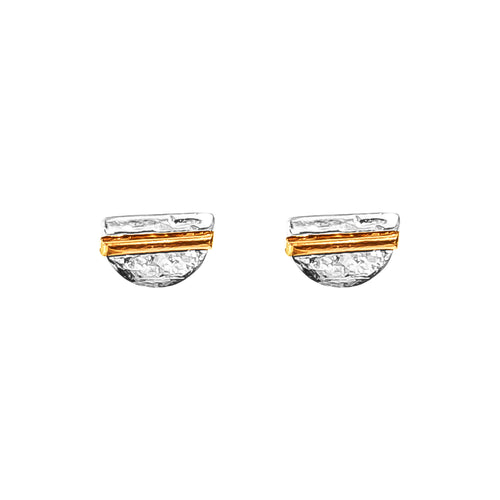 Rock Finders Keepers | Inez Fine Stud Earrings - Polished Rose Detail | VOULT.COM.AU