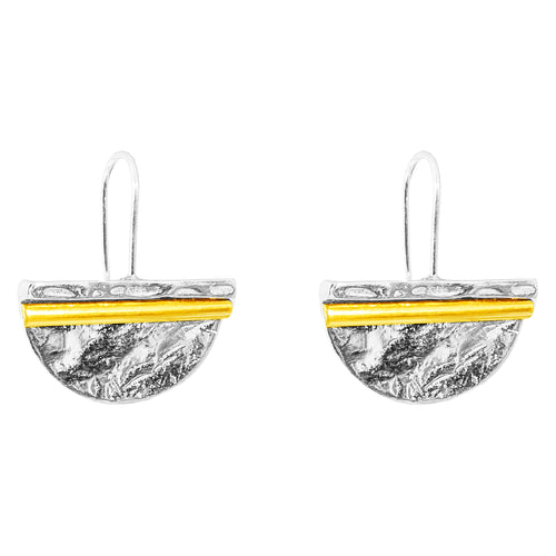 Rock Finders Keepers | Inez Large Statement Hook Earrings - Polished Gold Detail | VOULT.COM.AU