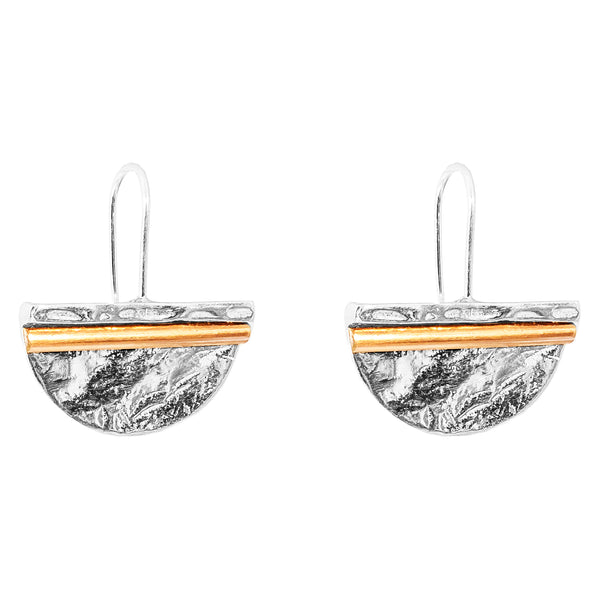 Rock Finders Keepers | Inez Large Statement Hook Earrings - Polished Rose Detail | VOULT.COM.AU
