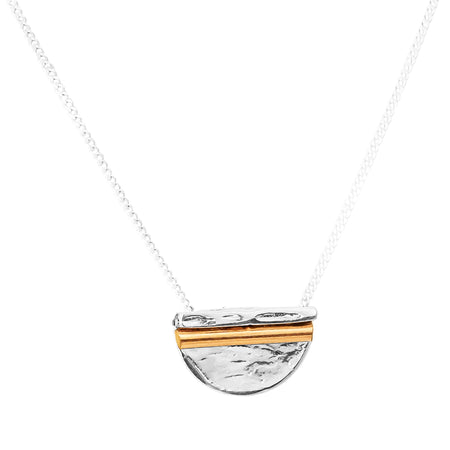 Alexis Fine Hammered Bar Necklace | Rose
