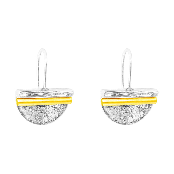 Rock Finders Keepers | Inez Medium Statement Hook Earrings - Polished Gold Detail | VOULT.COM.AU