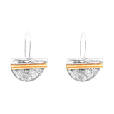 Rock Finders Keepers | Inez Medium Statement Hook Earrings - Polished Rose Detail | VOULT.COM.AU