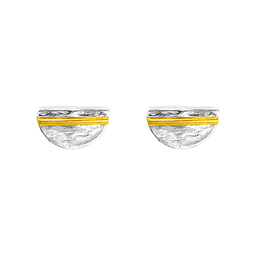 Rock Finders Keepers | Inez Medium Stud Earrings - Polished Gold Detail | VOULT.COM.AU