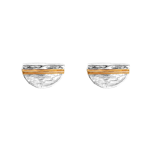 Rock Finders Keepers | Inez Medium Stud Earrings - Polished Rose Detail | VOULT.COM.AU