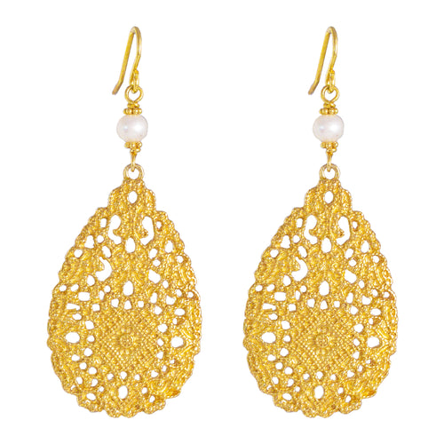 Rock Finders Keepers | Ivanka Earrings | Gold With Pearl Detail | VOULT.COM.AU