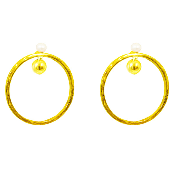 Rock Finders Keepers | Jennifer Earrings | Gold With Pearl Detail | VOULT.COM.AU