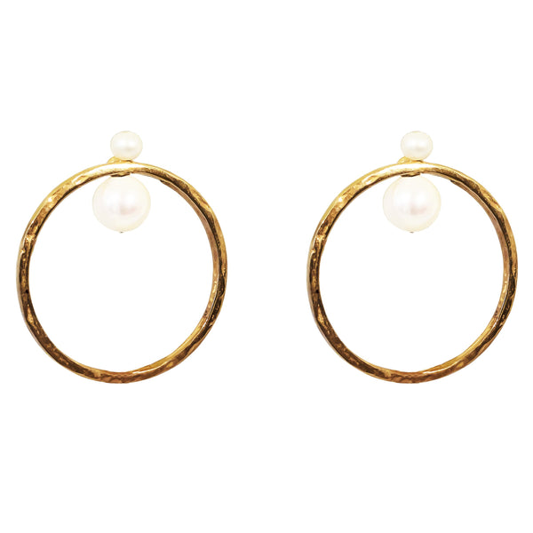 Rock Finders Keepers | Luciana Earrings | Rose With Pearl Detail | VOULT.COM.AU