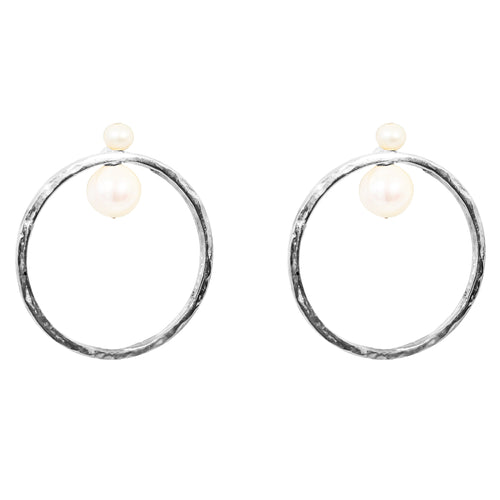 Rock Finders Keepers | Luciana Earrings | Silver With Pearl Detail | VOULT.COM.AU