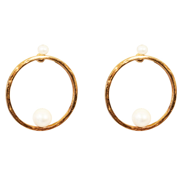 Rock Finders Keepers | Layla Earrings | Rose With Pearl Detail | VOULT.COM.AU