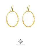 Rock Finders Keepers | Mason Large Oval Hoop Earrings | Gold | VOULT.COM.AU