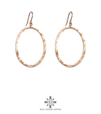 Rock Finders Keepers | Mason Large Oval Hoop Earrings | Rose | VOULT.COM.AU
