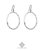 Rock Finders Keepers | Mason Large Oval Hoop Earrings | Silver | VOULT.COM.AU