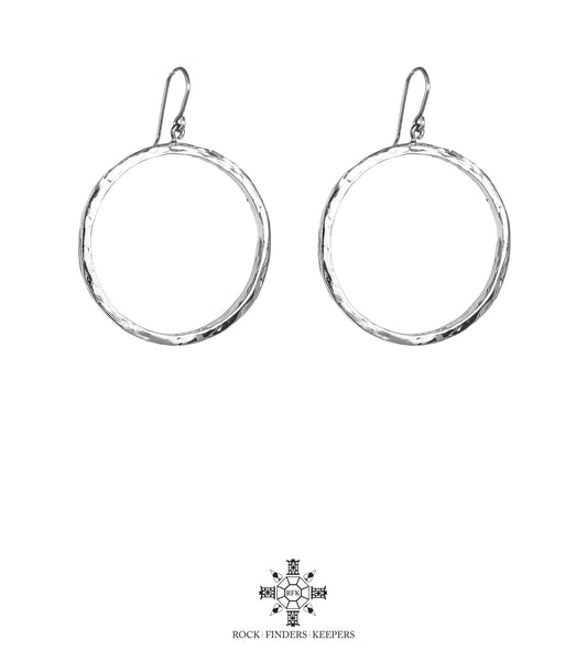 Rock Finders Keepers | Mason Large Hoop Earrings | Silver | VOULT.COM.AU