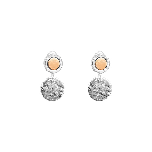 Rock Finders Keepers | Mercury Disc Earrings | Polished Rose Detail | VOULT.COM.AU