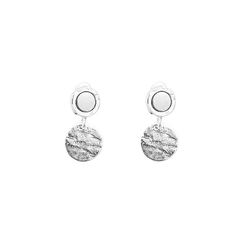 Rock Finders Keepers | Mercury Disc Earrings | Polished Silver Detail | VOULT.COM.AU
