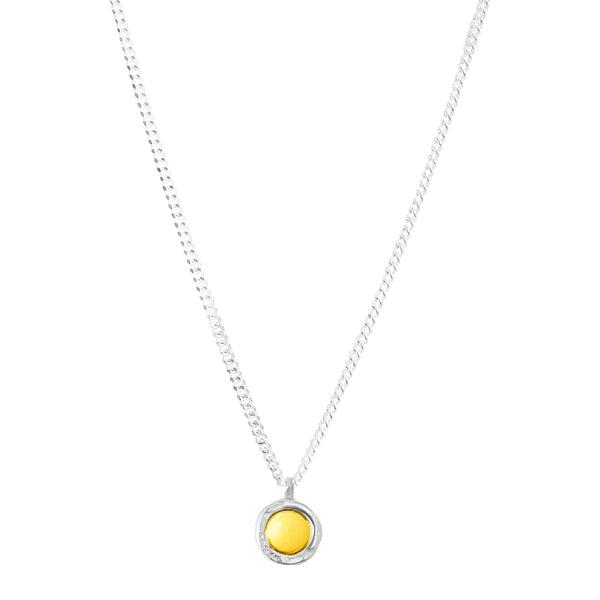 Mercury Fine Necklace | Polished Silver And Gold Detail