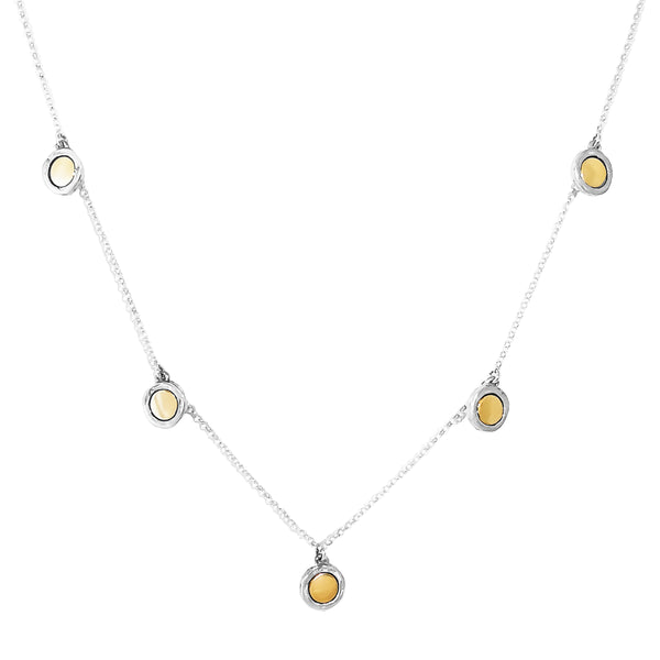 Rock Finders Keepers | Mercury Multi Disc Necklace - Polished Gold Detail | VOULT.COM.AU