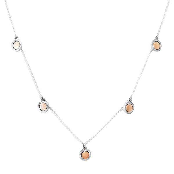 Rock Finders Keepers | Mercury Multi Disc Necklace - Polished Rose Detail | VOULT.COM.AU