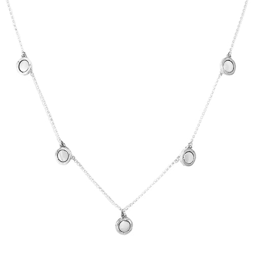 Rock Finders Keepers | Mercury Multi Disc Necklace - Polished Silver Detail | VOULT.COM.AU