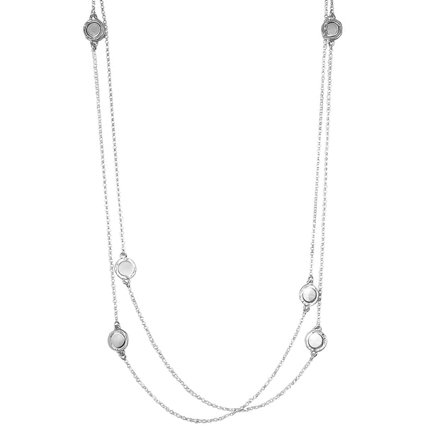 Rock Finders Keepers | Mercury Multi Feature Necklace - Long | Polished Silver Detail | VOULT.COM.AU