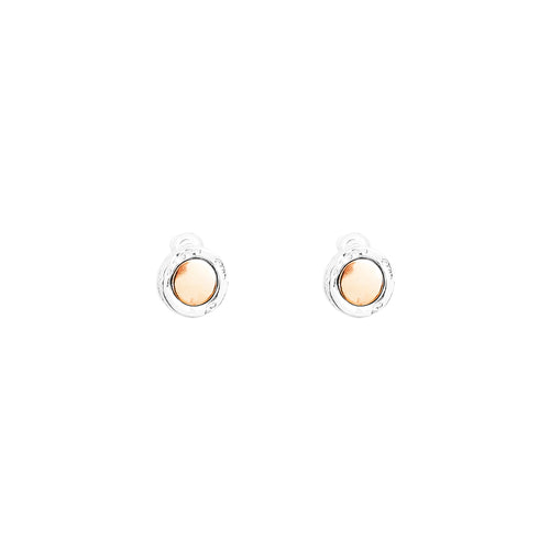 Rock Finders Keepers | Mercury Stud Earrings | Polished Rose Detail | VOULT.COM.AU
