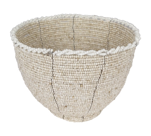 Voult | Hand Beaded Bowl | Natural | VOULT.COM.AU