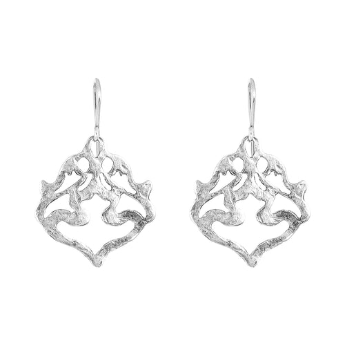 Rock Finders Keepers | Nina Hammered Earrings | Silver | VOULT.COM.AU