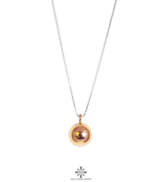 Rock Finders Keepers | Paris Large Chime Ball Necklace - Long | Polished Rose Detail | VOULT.COM.AU