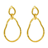 Rock Finders Keepers | Paradis Large Double Link Earrings - Gold | VOULT.COM.AU