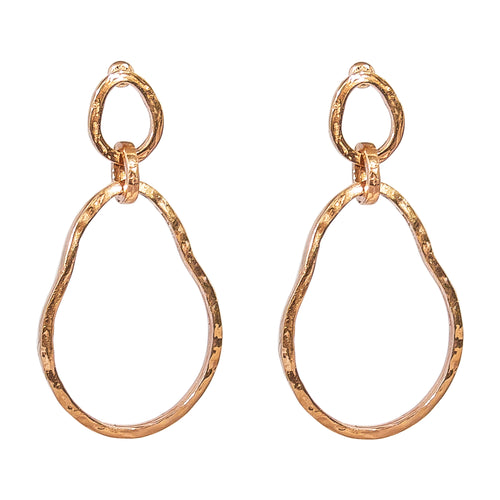 Rock Finders Keepers | Paradis Large Double Link Earrings - Rose | VOULT.COM.AU