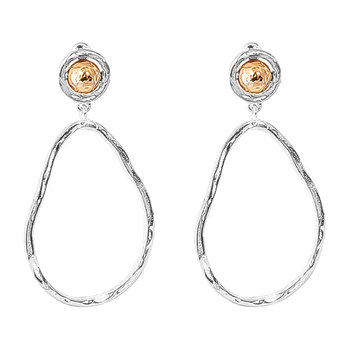 Rock Finders Keepers | Paradis Large Drop Earrings - Hammered Rose Detail | VOULT.COM.AU
