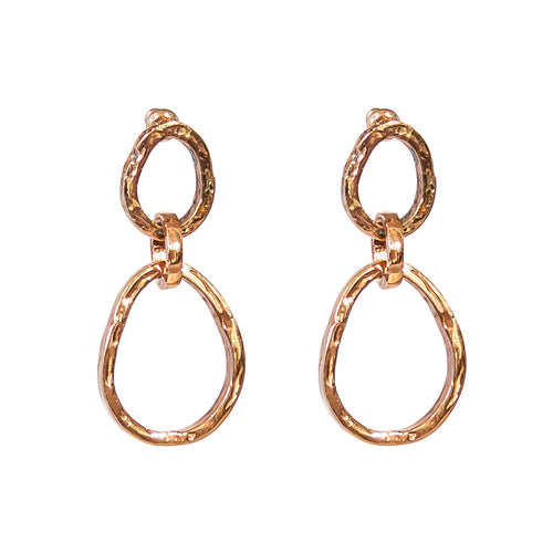 Rock Finders Keepers | Paradis Medium Double Link Earrings - Rose | VOULT.COM.AU