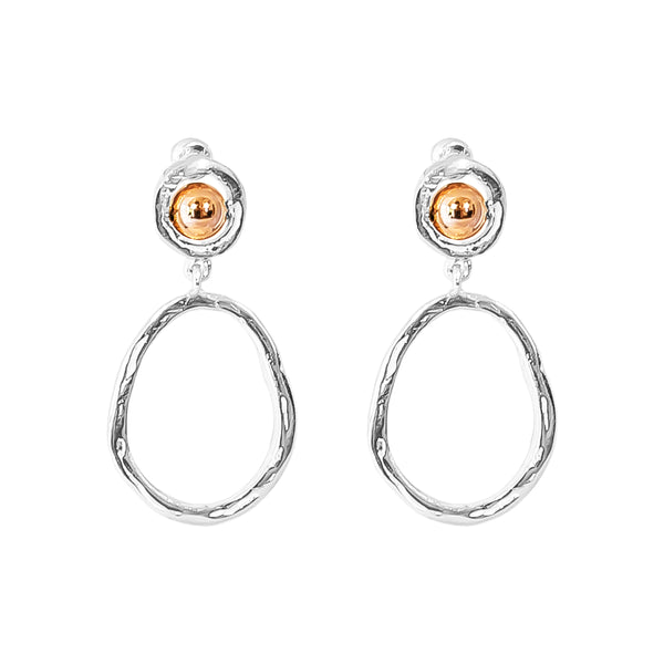 Rock Finders Keepers | Paradis Medium Drop Earrings - Polished Rose Detail | VOULT.COM.AU