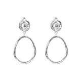 Rock Finders Keepers | Paradis Medium Drop Earrings - Polished Silver Detail | VOULT.COM.AU