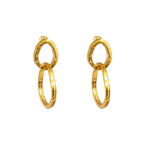 Rock Finders Keepers | Paradis Medium Link Earrings - Gold | VOULT.COM.AU