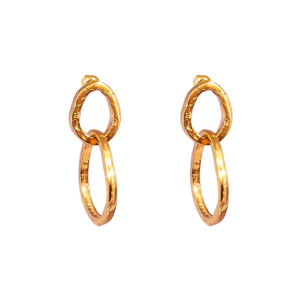 Rock Finders Keepers | Paradis Medium Link Earrings - Rose | VOULT.COM.AU