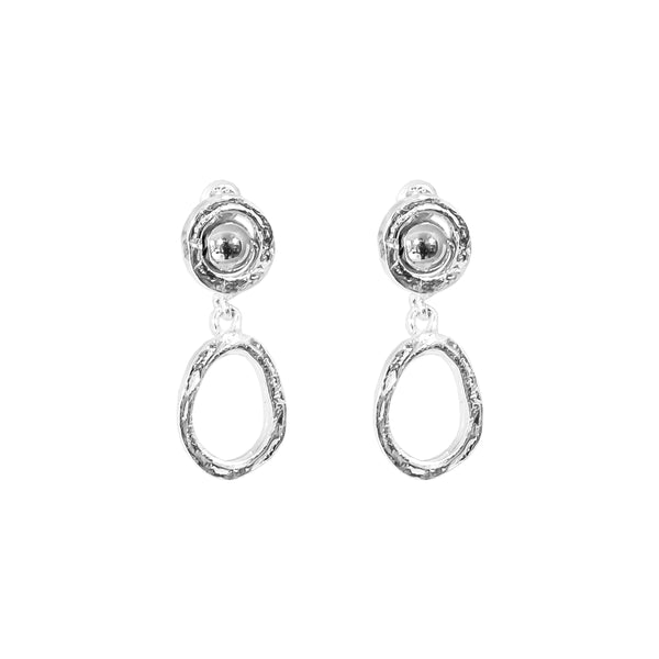 Rock Finders Keepers | Paradis Small Drop Earrings - Polished Silver Detail | VOULT.COM.AU