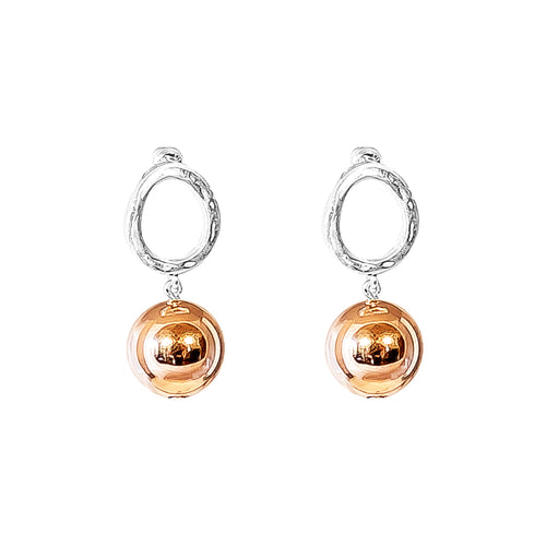 Rock Finders Keepers | Paradis Stud Earrings - Large Polished Rose Detail | VOULT.COM.AU