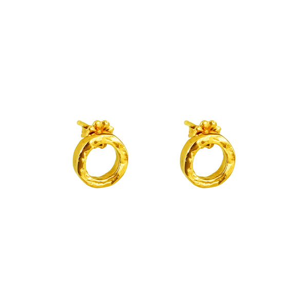 Phoenix Fine Stud Earrings With Chain Detail | Gold