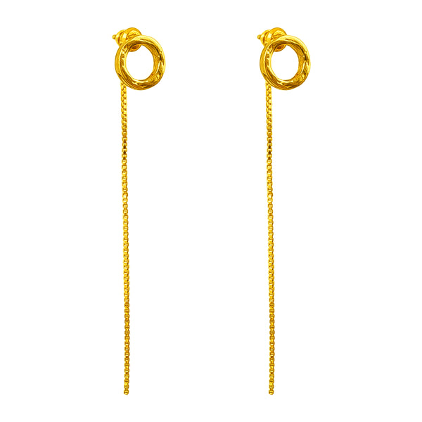 Rock Finders Keepers | Phoenix Fine Stud Earrings With Chain Detail | Gold | VOULT.COM.AU