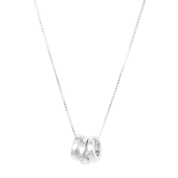 Rock Finders Keepers | Phoenix Fine Tri Hammered Ring Necklace | Silver | VOULT.COM.AU