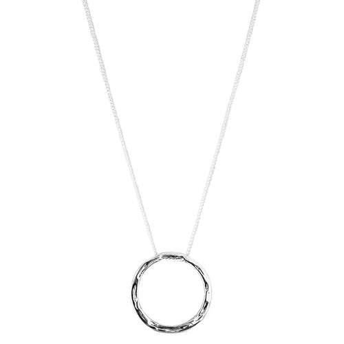 Rock Finders Keepers | Phoenix Large Hammered Ring Necklace | Silver | VOULT.COM.AU