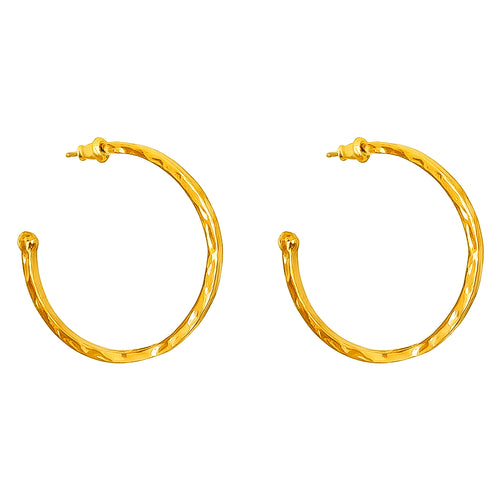Rock Finders Keepers | Phoenix Large Hoop Earrings | Gold | VOULT.COM.AU
