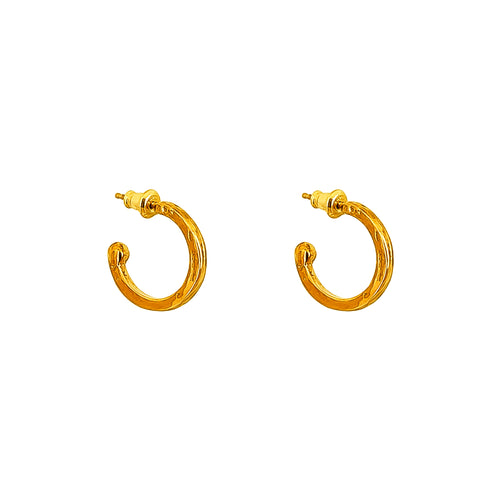 Rock Finders Keepers | Phoenix Small Hoop Earrings | Gold | VOULT.COM.AU