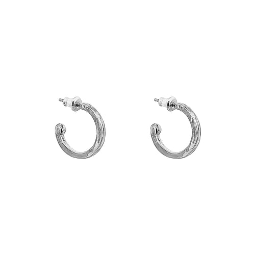 Rock Finders Keepers | Phoenix Small Hoop Earrings | Silver | VOULT.COM.AU