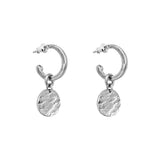 Rock Finders Keepers | Phoenix Small Hoop Earrings With Disc | Silver | VOULT.COM.AU