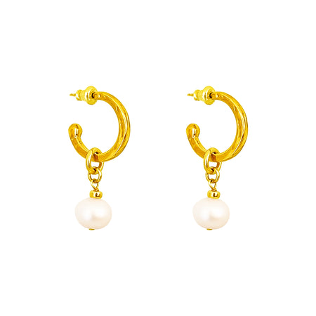 Phoenix Small Hoop Earrings With Disc | Rose