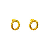 Phoenix Stud Earrings With Chain Detail | Gold