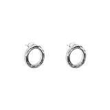 Phoenix Stud Earrings With Chain Detail | Silver