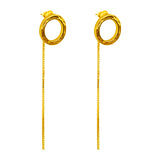 Rock Finders Keepers | Phoenix Stud Earrings With Chain Detail | Gold | VOULT.COM.AU